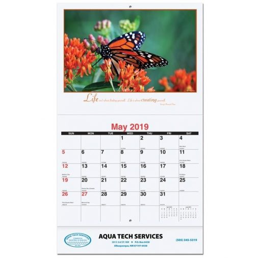 "Motivations Monthly Wall Calendars w/Coil Bound (10 5/8"" x 18 1/4"")"