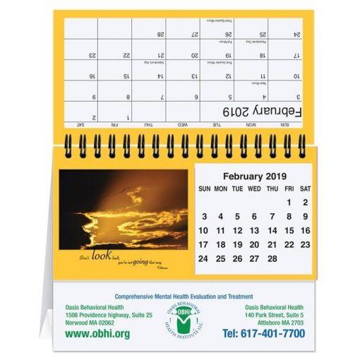 "Motivations Tent Desk Calendar (5 13/16"" x 4 1/2"")"