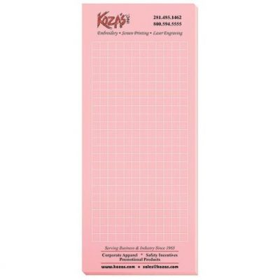 "Pastel Colors Scratch Pads w/ 100 Sheets (3 1/2"" x 8 3/8"")"
