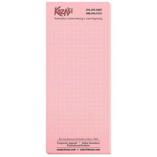 """Pastel Colors Scratch Pads w/ 100 Sheets (3 1/2"""" x 8 3/8"""")"""
