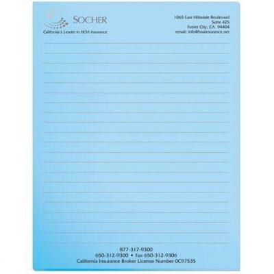 """Pastel Colors Scratch Pads w/ 50 Sheets (8 3/8"""" x 10 7/8"""")"""