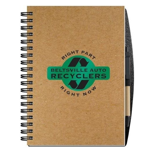 """Recycled Journals w/Pen Safe Back Cover (7"""" x 10"""")"""