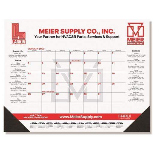 "Red & Black Calendar Desk Pads w/One Color Imprint (21 3/4"" x 17"")"