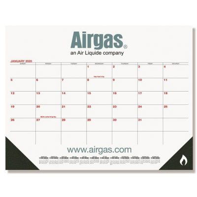 "Red & Black Calendar Desk Pads w/Two Color Imprint (21 3/4"" x 17"")"