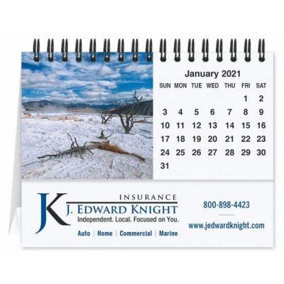 "Scenic Water Tent Desk Calendar (5 13/16"" x 4 1/2"")"