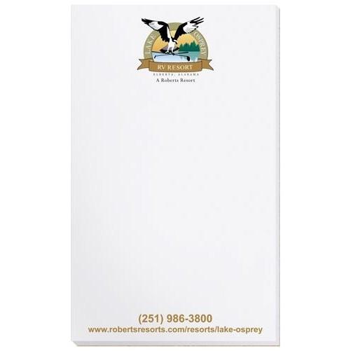 "Scratch Pad w/ 100 Sheets (3 1/4"" x 5 3/8"")"