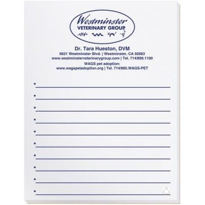 "Scratch Pad w/ 100 Sheets (4 1/8"" x 5 3/8"")"