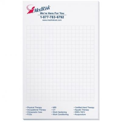 "Scratch Pad w/ 50 Sheets (5 3/8"" x 8 3/8"")"