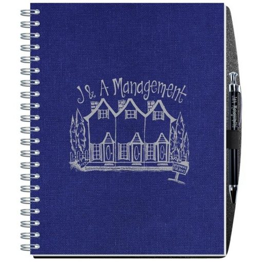 "Time Managers Calendar w/Pen Safe Back Cover & Pen (8 1/4"" x 10 5/8"")"