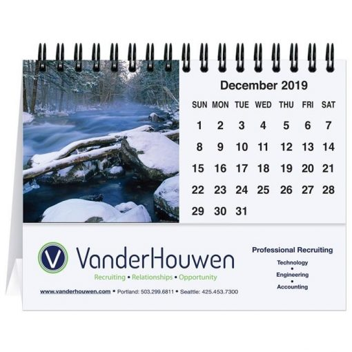 "Waterways Water Tent Desk Calendar (5 13/16"" x 4 1/2"")"