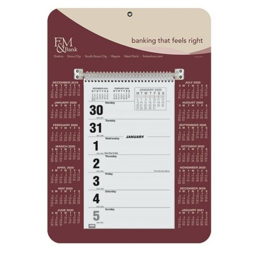 "Weekly Wall Calendars w/Monday Start (9"" x 12 1/4"")"