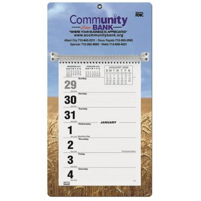 "Weekly Wall Calendars w/Sunday Start (7"" x 12 1/4"")"