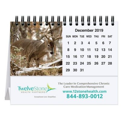 "Wildlife Tent Desk Calendar (5 13/16"" x 4 1/2"")"