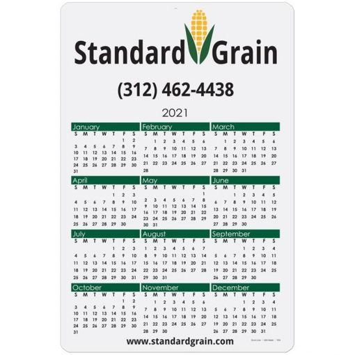 "Year at a Glance Calendar Cards (12"" x 18"")"