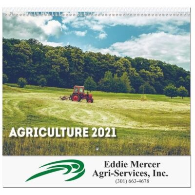 """Agriculture Monthly Wall Calendar w/Coil Binding (10 5/8"""" x 18 1/4"""")"""