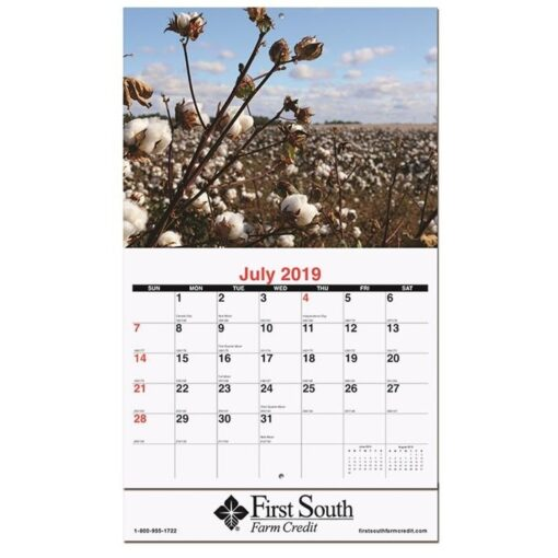 """Agriculture Monthly Wall Calendar w/Staples (10 5/8"""" x 18 1/4"""")"""