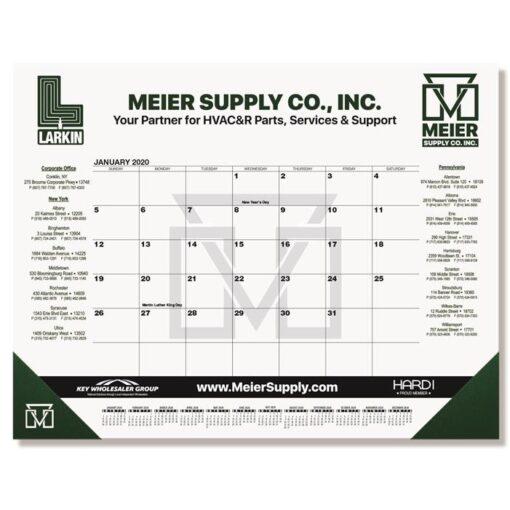 "Black Calendar Desk Pad w/One Color Imprint (21 3/4"" x 17"")"