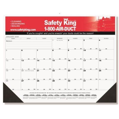"Black Calendar Desk Pad w/Two Color Imprint (21 3/4""x17"")"