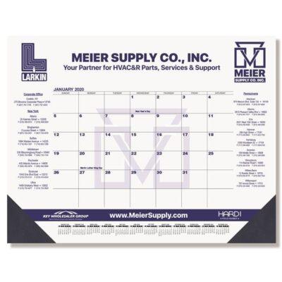 "Blue & Black Calendar Desk Pad w/One Color Imprint (21 3/4""x17"")"