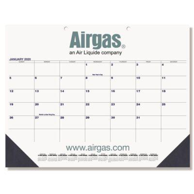 """Blue & Black Calendar Desk Pad w/Two Color Imprint (21 3/4"""" x 17"""")"""