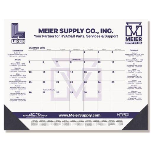 """Blue & Black Calendar Desk Pad w/Two Color Imprint (21 3/4""""x17"""")"""