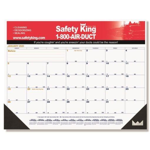 """Blue & Gold Calendar Desk Pad w/Two Color Imprint (21 3/4"""" x 17"""")"""