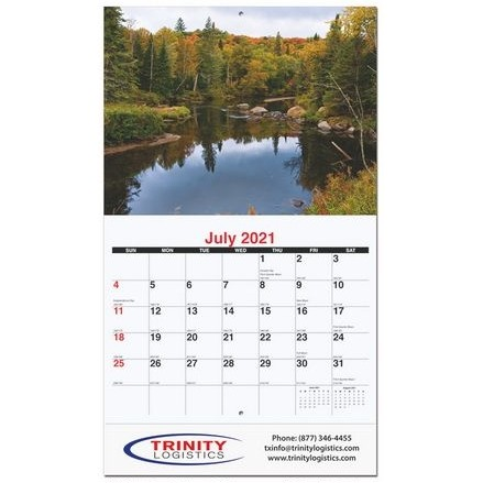 """Majestic Outdoors Monthly Wall Calendar w/Stapled (10 5/8"""" x 18 1/4"""")"""