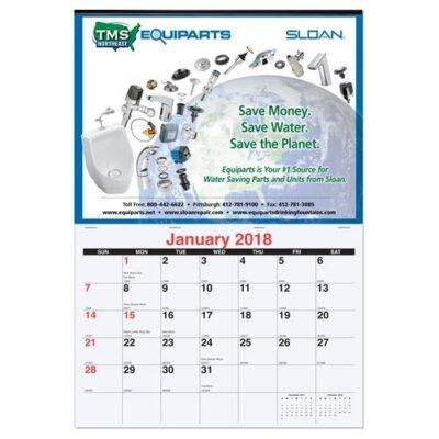 """Monthly Wall Calendar (12"""" x 17 3/8"""")"""