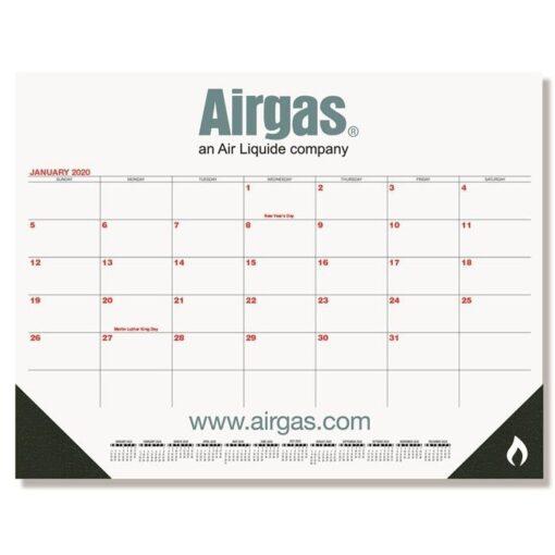 "Red & Black Calendar Desk Pad w/Two Color Imprint (21 3/4"" x 17"")"
