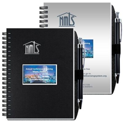"""Shadowbox Smooth Paperboard Journal w/50 Sheets & Pen (5"""" x 7"""")"""