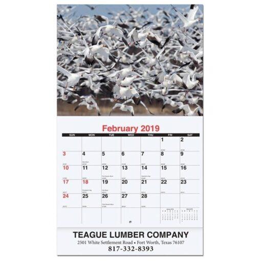 """Wildlife Monthly Wall Calendar w/Stapled (10 5/8"""" x 18 1/4"""")"""